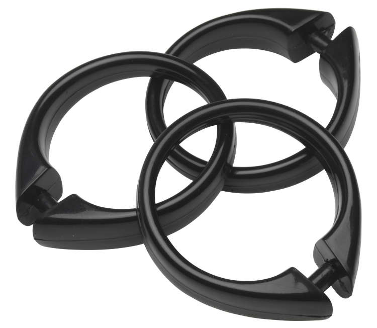 Wholesale Snap Type Black Plastic Shower Curtain Rings