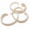"White Hang Ease ""C"" Type Plastic Shower Curtain Hooks - Easy Hang, Value Choice"