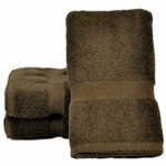 Bath Towels,  Supreme Spa, 27x54, 15 lbs./dozen, 100% Cotton, Dobby Border, Chocolate