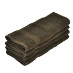 Hand Towels, Supreme Spa, 16x30, 4 lbs./dozen, 100% Cotton, Dobby Border, Chocolate