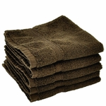 Washcloths, Supreme Spa, 13x13, 1.5 lbs./dozen, 100% Cotton, Dobby Border, Chocolate