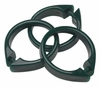 Evergreen Snap Type Round Plastic Shower Curtain Rings w/Snap Lock - Value Choice