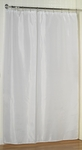 Extra-Long Fabric Shower Curtain Liners - Washable, Water Repellent, 100% Polyester