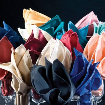 Fabric Napkins Wholesale - Colorfast Colors - 20x20 - Riegel Premier Spun Polyester