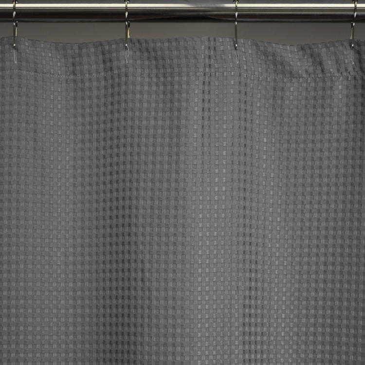 HeavyWeight Fabric Shower Curtains Standard 72x72 Waffle Weave