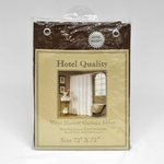 8 Ga. Hotel Quality Vinyl Shower Curtain Liners w/ Metal Grommets & Magnets