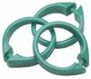 Jade Green Snap Type Round Plastic Shower Curtain Rings w/Snap Lock - Value Choice