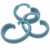 "Light Blue Hang Ease ""C"" Type Plastic Shower Curtain Hooks - Easy Hang, Value Choice"