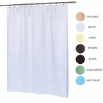 Standard Shower Curtains - Light-Weight, Waffle Weave Polyester Fabric - 70x72 - Washable