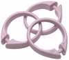 Lilac Snap Type Round Plastic Shower Curtain Rings w/Snap Lock - Value Choice