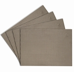Longport Nickel Woven Vinyl Placemats, 13x18 inch, Rectangle, Benson Mills
