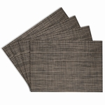 Longport Tabacco Woven Vinyl Placemats, 13x18 inch, Rectangle, Benson Mills