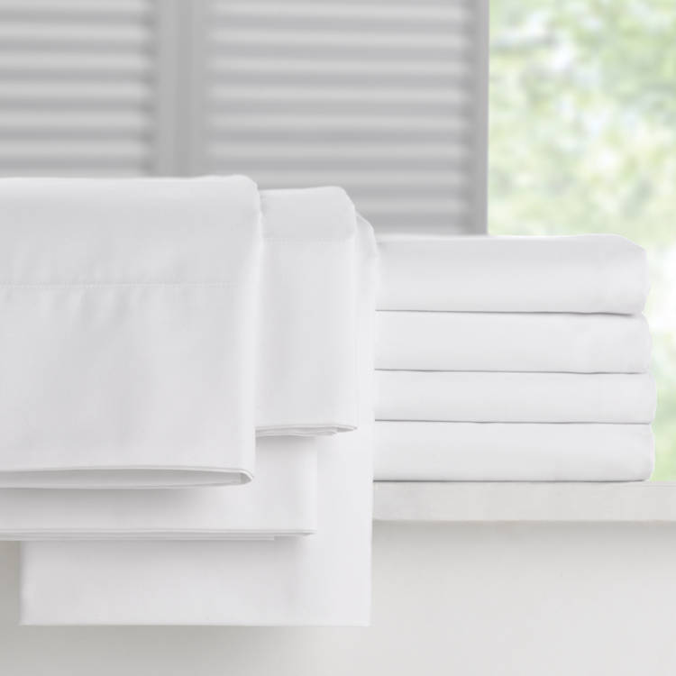 Martex Millenium T 300 Fitted Bed Sheets White Luxury