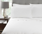 Martex Millenium T-300 Flat Bed Sheets, White, 60% Cotton / 40% Polyester Blend