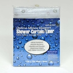 10 Ga. Extra Heavy Duty Vinyl Shower Curtains / Shower Liners -  Mildew Resistant