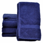 Bath Towels, Supreme Spa, 27x54, 15 lbs./dozen, 100% Cotton, Dobby Border, Blue