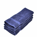 Hand Towels, Supreme Spa, 16x30, 4 lbs./dozen, 100% Cotton, Dobby Border, Blue