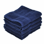 Washcloths, Supreme Spa, 13x13, 1.5 lbs./dozen, 100% Cotton, Dobby Border, Blue