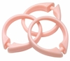 Pink Snap Type Round Plastic Shower Curtain Rings w/Snap Lock - Value Choice