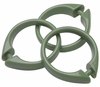 Sage Green Snap Type Round Plastic Shower Curtain Rings w/Snap Lock - Value Choice