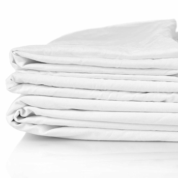 Super Soft T-250 Hospitality Fitted Bed Sheets, White, 60% Cotton / 40% Polyester Blend
