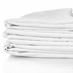 Super Soft T-250 Hospitality Flat Bed Sheets, White, 60% Cotton / 40% Polyester Blend