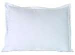 T-250 Pillow Shams - White Dobby Micro-Check - Low-Wrinkle Cotton/Poly Blend
