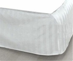 White Stripe Bed Skirts - T-250 Poly/Cotton