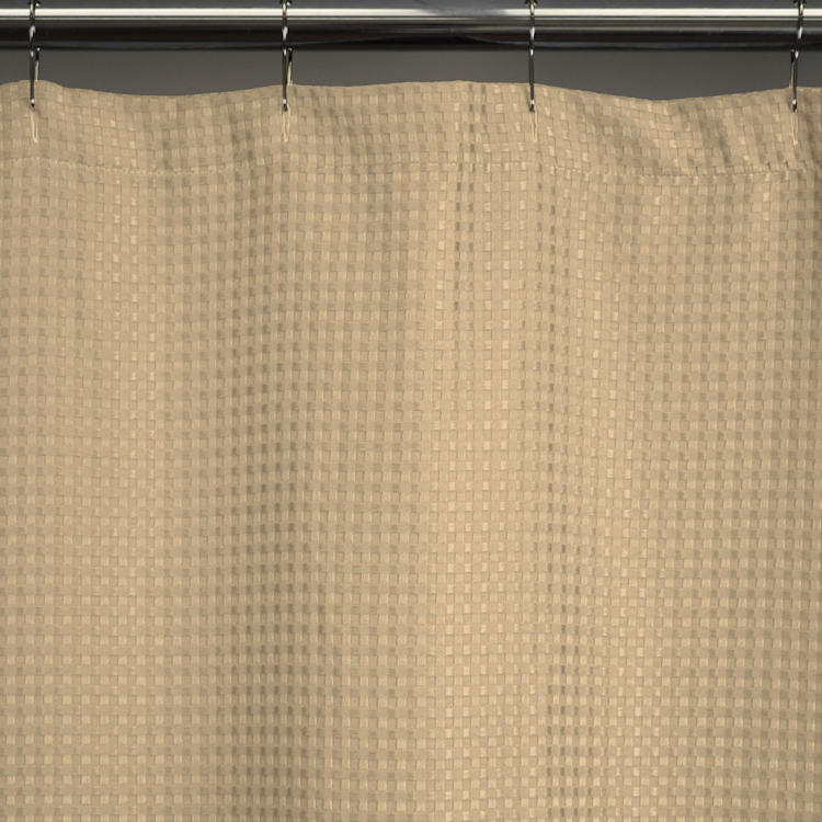 Heavy-Weight Fabric Shower Curtains, Standard 72x72 - Waffle Weave ...