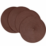 Victorian Chocolate Braided Fabric Placemats, 15 inch, Round, Benson Mills