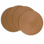 Victorian Sandalwood Braided Fabric Placemats, 15 inch, Round, Benson Mills