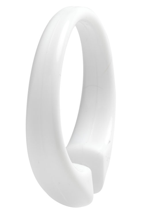 Wholesale Snap Type White Plastic Shower Curtain Rings - Secure Lock ...