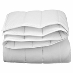 Solid White Duvet Inserts - Channel Quilted Microfiber, Down-Alternative Eco-Fill