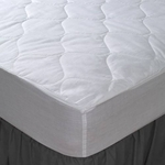 Deluxe Wholesale Fitted Mattress Pads - Poly/Cotton - 5oz. - Washable