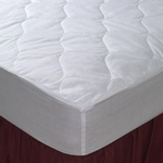 Economy Choice Wholesale Mattress Pads - Fitted Skirt, Polyester - 5 oz. Fill