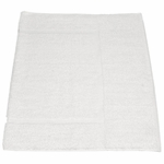 Bath Mats, Royal Hotel, 20x34, 10 lbs./dozen, 100% Cotton, Dobby Border, White