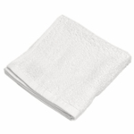 Washcloths, Royal Hotel, 13x13, 1.5 lbs./dozen, 100% Cotton, Dobby Border, White