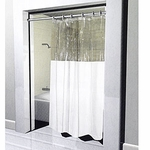 Standard Window Shower Curtains - Heavy 10 Gauge Vinyl - 72x72