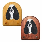 American Cocker Spaniel Key Rack-Black Parti