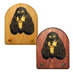 American Cocker Spaniel Key Rack-Black-Tan