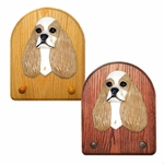 American Cocker Spaniel Key Rack-Brown Parti