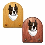 American Staffordshire Terrier Key Rack-Brindle-White