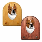 American Staffordshire Terrier Key Rack-Red-White