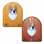 American Staffordshire Terrier Key Rack-Tan-White