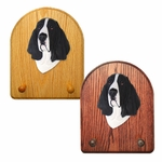 Basset Hound Key Rack-Black-White
