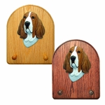 Basset Hound Key Rack-Red-White