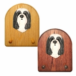 Bearded Collie Key Rack-Blue-White
