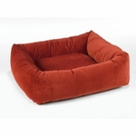 "Bowsers-""Pomegranate"" -  Microvelvet Dutchie Dog Bed"