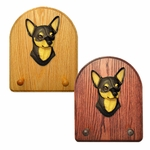 Chihuahua Key Rack-Black-Tan
