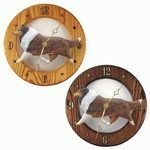 Collie Wall Clock-Sable